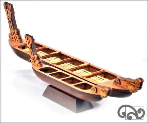 Maori wooden waka