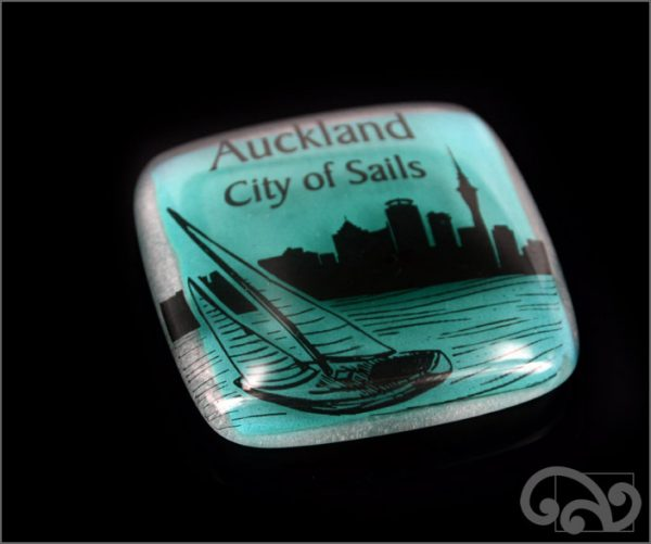 Auckland City of Sails glass note weights