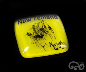 kowhai glass note weights