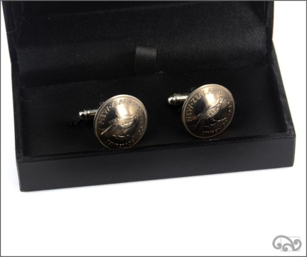 Sixpence coin cufflinks