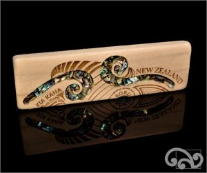 Recycled driftwood with double koru
