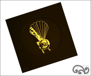 Beautiful limited edition fantail print