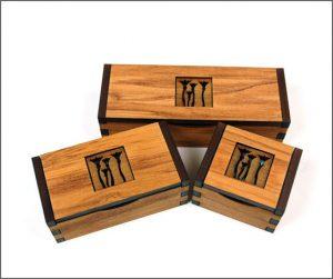 Rimu veneer gift boxes
