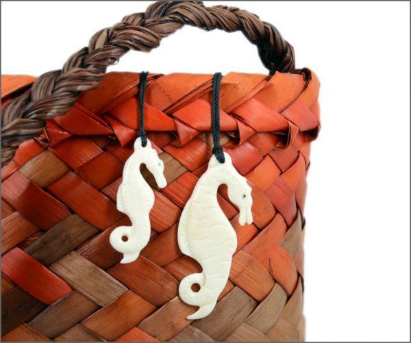 Seahorse bone carvings