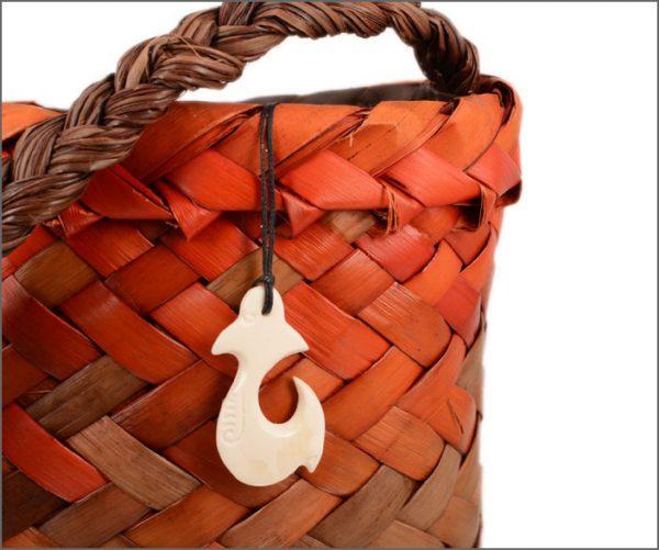 Maori fishhook bonecarving