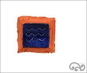 Waves ceramic wall hanger