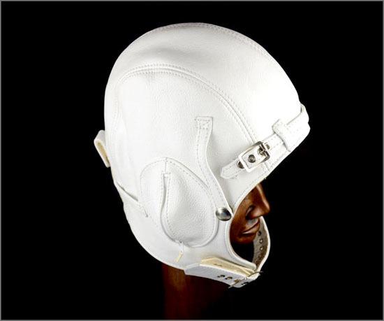 Leather aviator helmet, leather classic car helmet