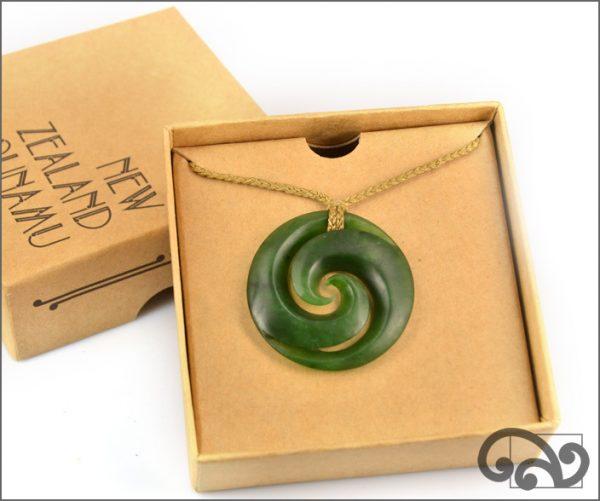 Authentic greenstone koru pendants