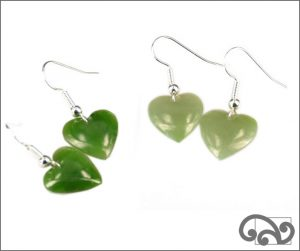 Greenstone earrings