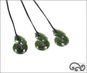 Small greenstone manaia pendants