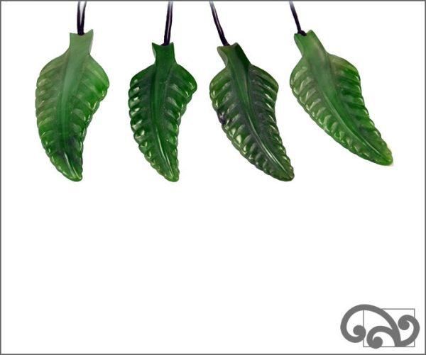 Greenstone fern pendants