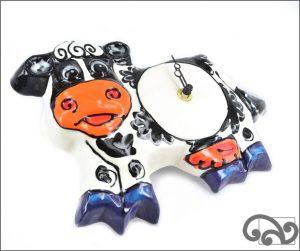 Ceramic cow clocks