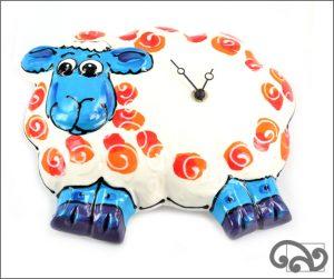 Ceramic sheep clock