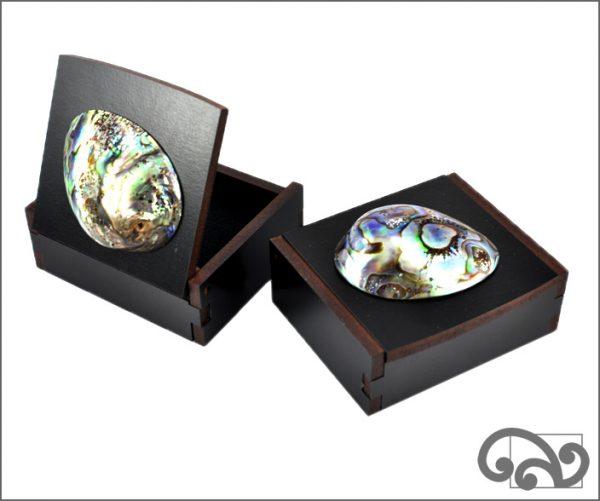 Black gift box with paua